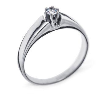 Tiana каблучка з білого золота з діамантом R0471