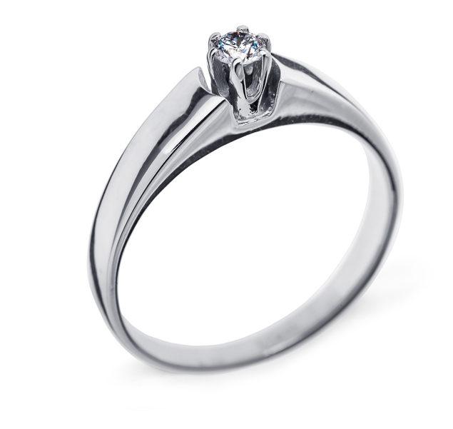 Tiana каблучка з білого золота з діамантом R0471 - Фото 1