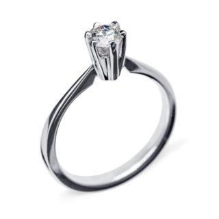 Grace каблучка для заручин з білого золота з діамантом R0462