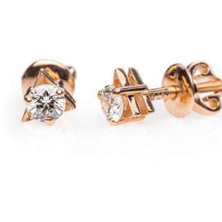 Gatria золоті пусети з діамантами E0605