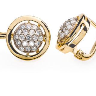 Margaret сережки золоті з діамантами E0310
