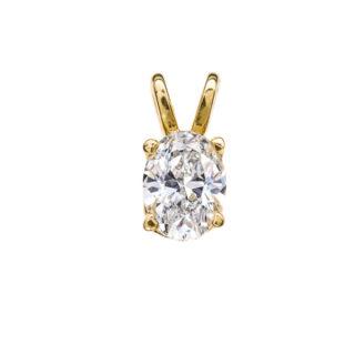 Ursula шикарна підвіска з овальним діамантом P0537