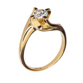 Catherine каблучка з жовтого золота з діамантом R0569