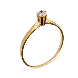 Sarah каблучка з червоного золота з діамантом R0567