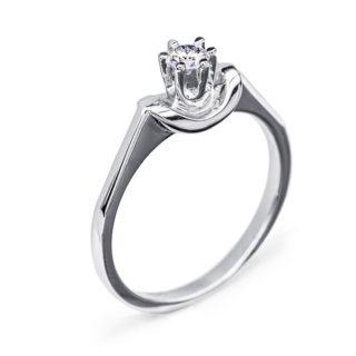 Mary каблучка з білого золота з діамантом R0093