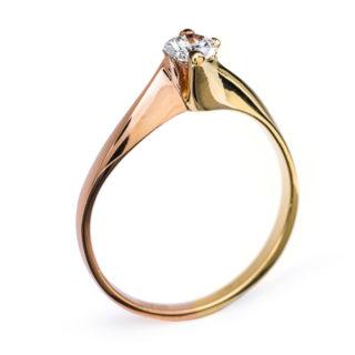 Eugenie витончена каблучка з золота з діамантом R0286