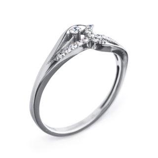 Gemini золота каблучка з діамантами R0440