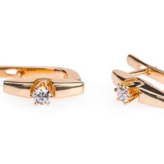 Grus сережки з червоного золота з діамантами E0471-3