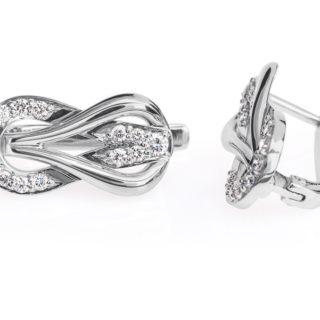 Cassiopeia сережки з білого золота з діамантами E0314