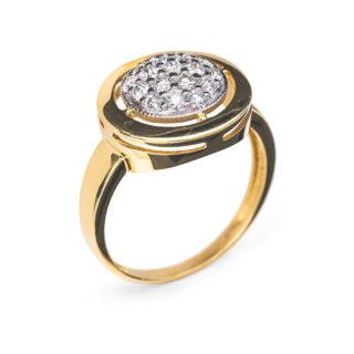 Margaret золота каблучка з діамантами R0310