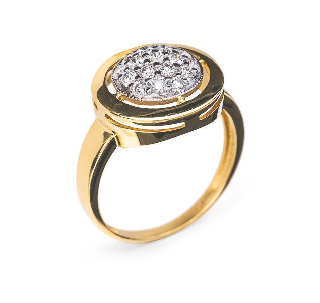 Margaret золота каблучка з діамантами R0310 - Фото 1