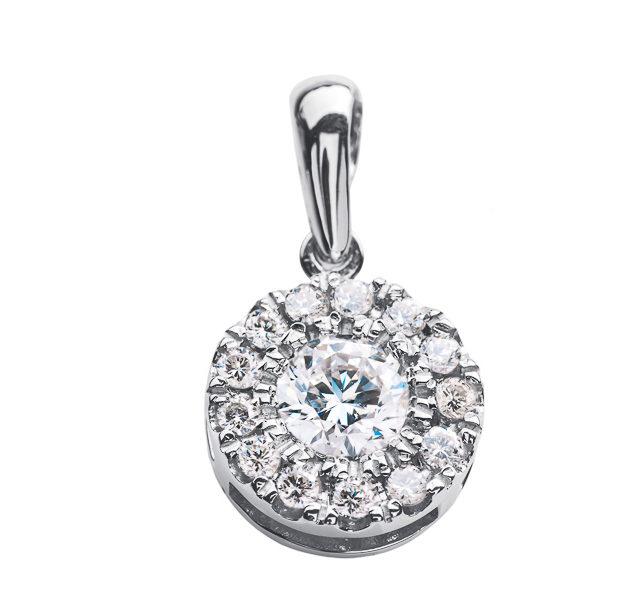 Pallas підвіска з білого золота з діамантами P0547 - Фото 1
