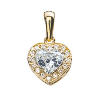 Diotima золотий кулон з діамантами P0647
