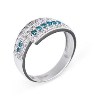 Turquoise каблучка з діамантами R0308