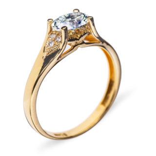 Cordelia золота каблучка з діамантом R0620
