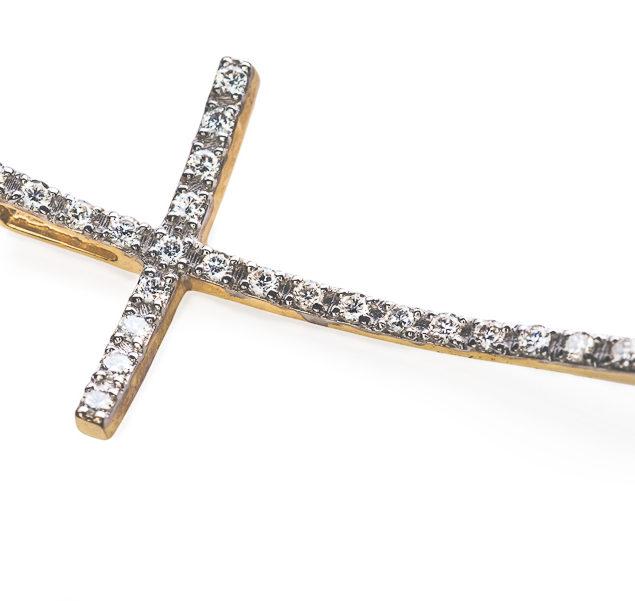 Trust хрест з діамантами P0365 - Фото 1