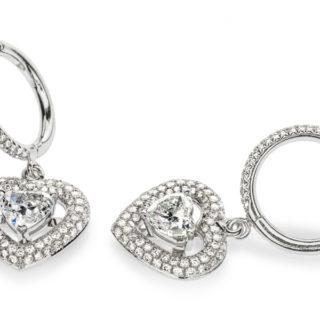 Сережки з білого золота з діамантами Carina E-009в