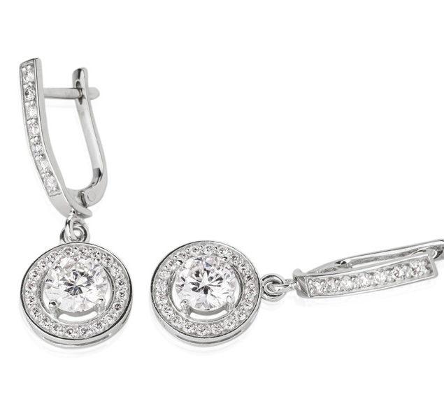 Ексклюзивні сережки з діамантами Partula E0466П - Фото 1