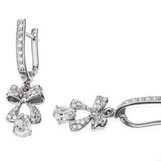 Унікальні сережки з діамантами Harmonia E0470П