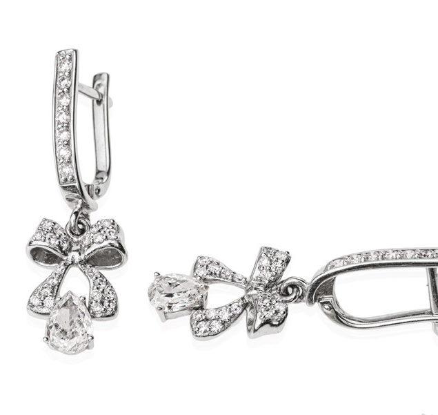 Унікальні сережки з діамантами Harmonia E0470П - Фото 1