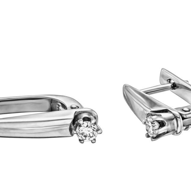 Tucana золоті сережки з діамантами E0471-2 - Фото 1