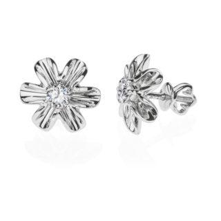 Giedi пусети в формі квітів з діамантами E0526