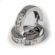 Pictor золоті сережки-конго з діамантовою обсипкою E0548 - Фото 3