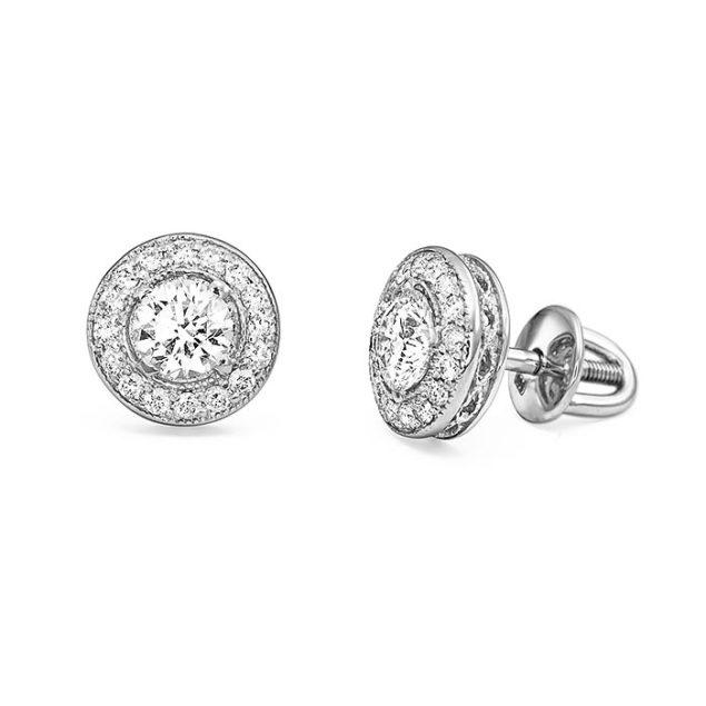 Пусети з діамантами E0586 - Фото 1