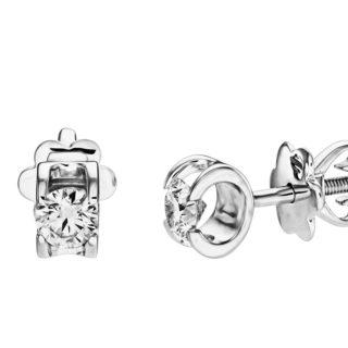 Polaris стильні пусети з діамантами E0598