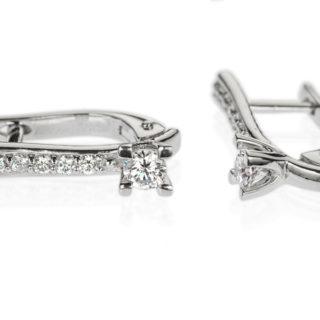 Taurus сережки з білого золота з діамантами E0633