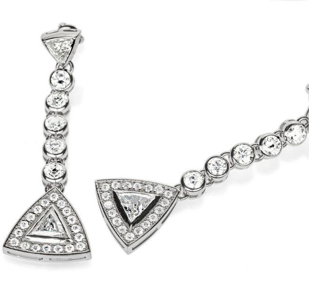 Золоті сережки з діамантами Hestia E0640 - Фото 1