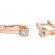 Rasalas сережки з білого золота з діамантом E0692 - Фото 2