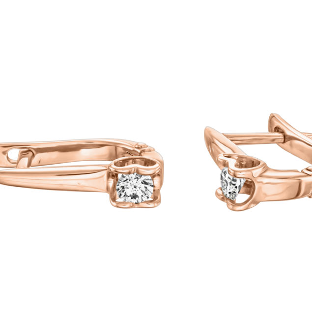 Rasalas сережки з білого золота з діамантом E0692 - Фото 1
