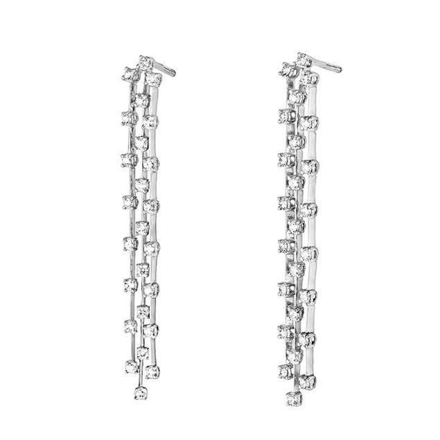 Сережки з діамантами E0968-1 - Фото 1