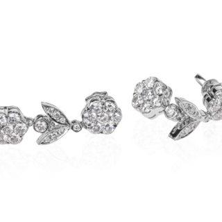 Золоті сережки з діамантами Hemera E-273