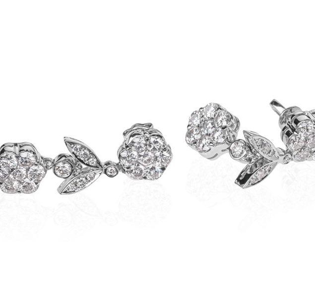 Золоті сережки з діамантами Hemera E-273 - Фото 1