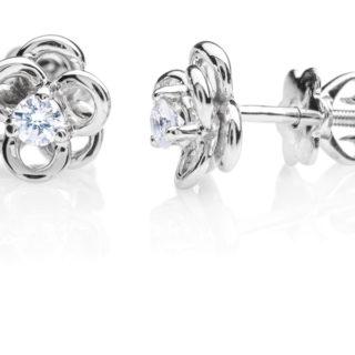 Ancha золоті сережки гвоздики з діамантами E0661