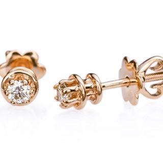Heka сережки гвоздики з діамантами E0681