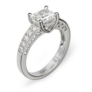 Calypso витончена каблучка з діамантами R0690