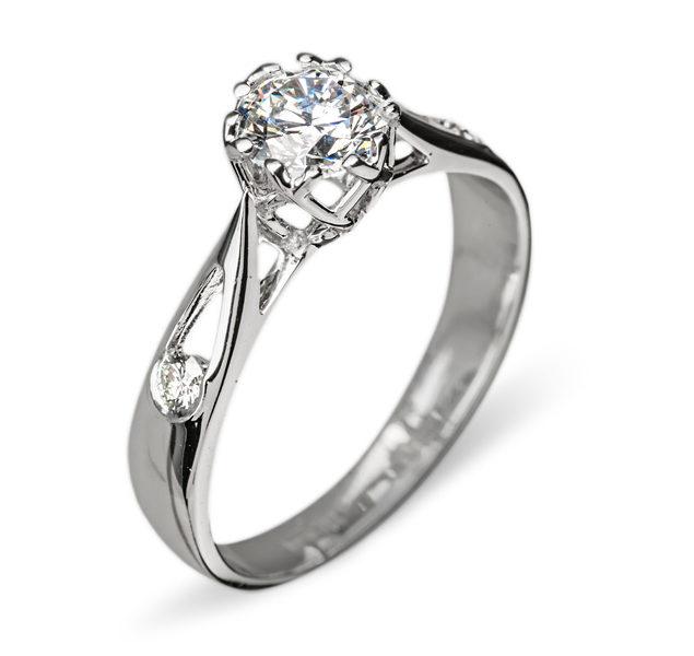 Narvi дивовижна каблучка з діамантом R0634 - Фото 1