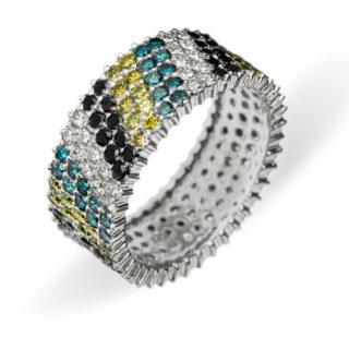 Mosaic оригінальна каблучка з діамантами R0418