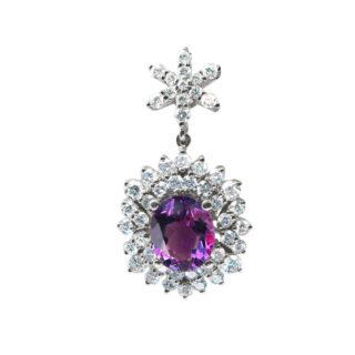 Orchid кулон з діамантами і сапфіром P0415