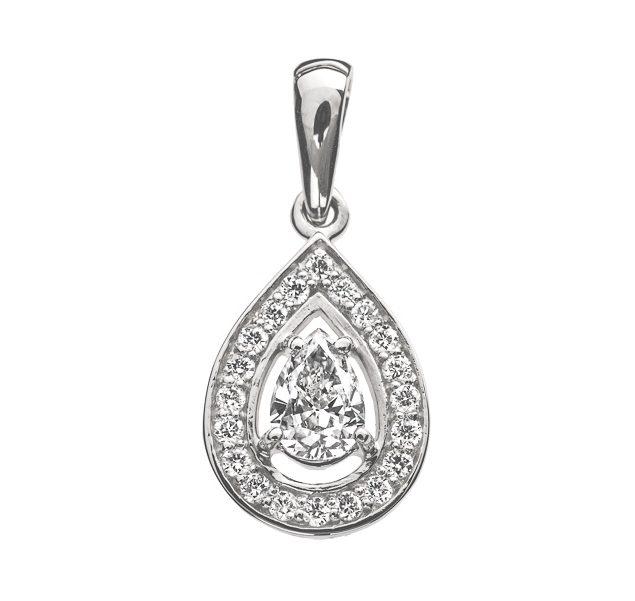 Daphne елегантна підвіска з діамантом у формі груші P0467 - Фото 1
