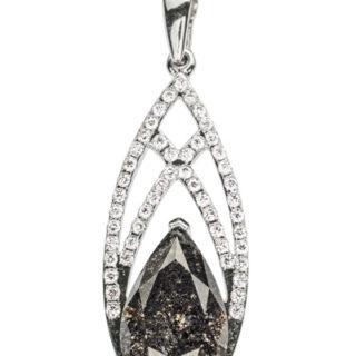 SeaShell підвіска з чорним діамантом P0524