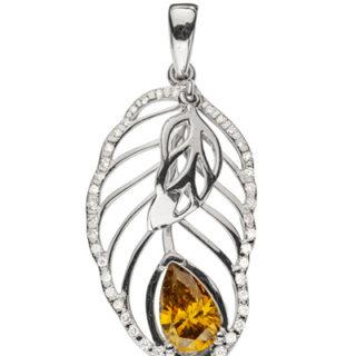 Golden Autumn підвіска з діамантом P0525