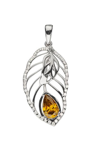 Golden Autumn підвіска з діамантом P0525 - Фото 1