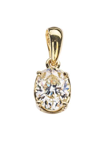 Camilla золота підвіска з діамантом P0641 - Фото 1