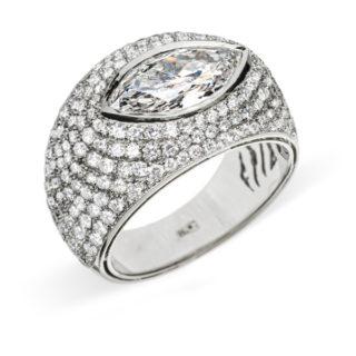Poena шикарна каблучка з діамантами R0001K