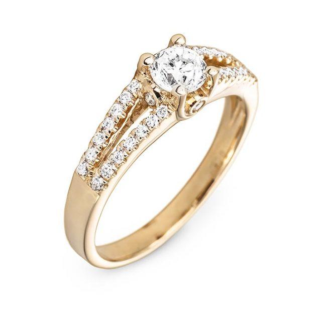 Дивовижна каблучка з діамантами Borisfenida R0065 - Фото 1