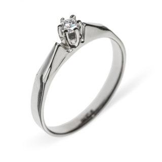 Alexandra чарівна каблучка з білого золота з діамантом R0099